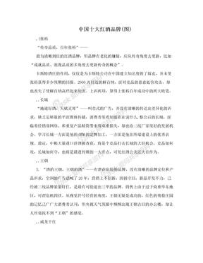 中国十大红酒品牌(图)