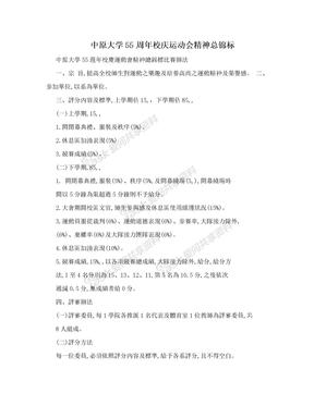 中原大学55周年校庆运动会精神总锦标