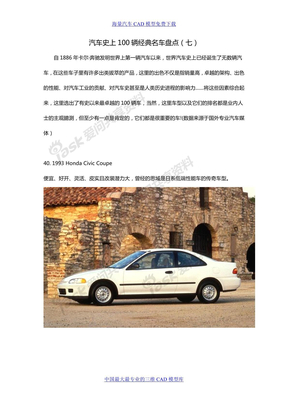 汽车史上100辆经典名车盘点(七)