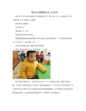 幼儿行为观察记录_533828