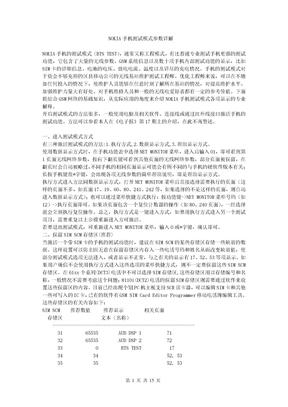 NOKIA手机测试模式参数详解
