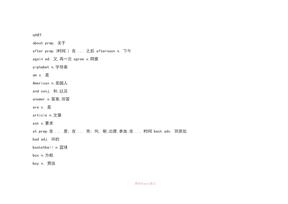 剑桥国际英语教程1词汇手册