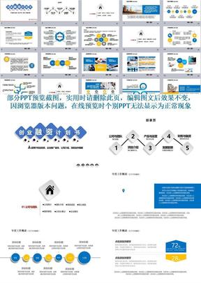 简约微立体创业融资计划书、企业推广项目合作ppt模板【最新精品】