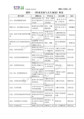 课程01 《职业发展与人生规划》教案2008-12-21-112036