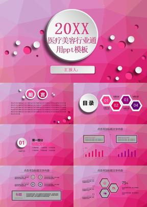 医疗美容保健美妆产品行业通用ppt模板