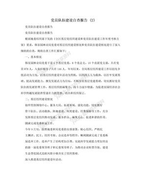 党员队伍建设自查报告 (2)