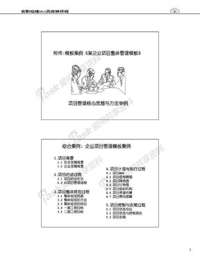 07-企业项目整体管理模板案例