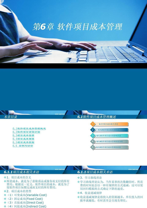 第06章软件项目成本管理ppt课件