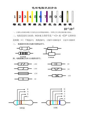 色环电阻识别方法01