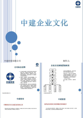 中建企业文化ppt模板