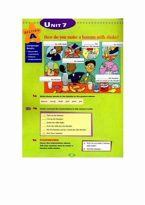 新目标英语八年级上册电子书新目标英语初二上册电子书Unit7