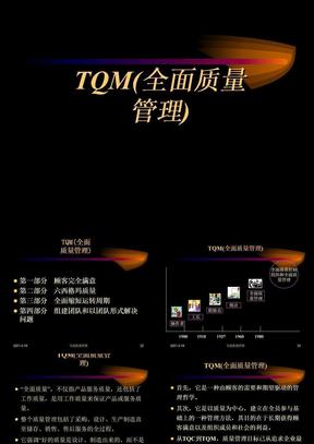 TQM(全面质量管理) ppt课件