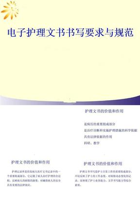 电子护理文书书写规范05202ppt课件