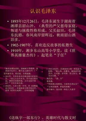 认识毛泽东
