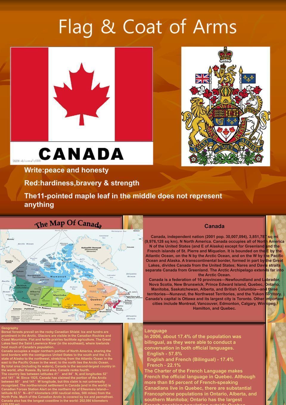 加拿大英文介绍
