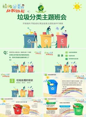 垃圾分类公开课PPT模板4
