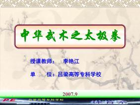 中华武术之太极拳