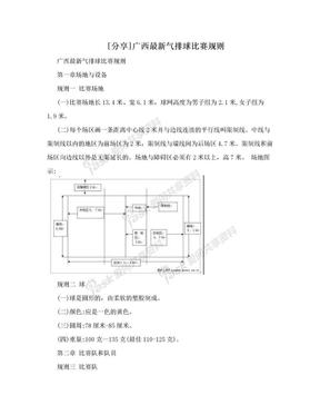 [分享]广西最新气排球比赛规则