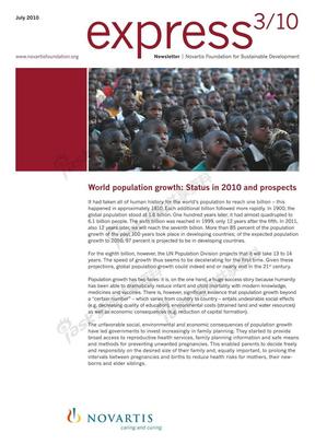 2010世界人口现状及前景(World population growth Status in 2010 and prospects)