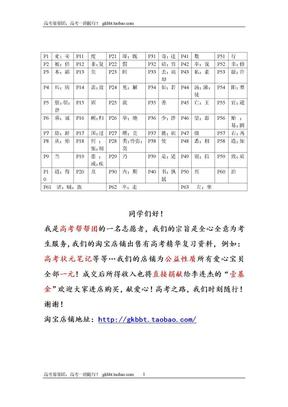 高考语文文言文120个实词及其例句翻译