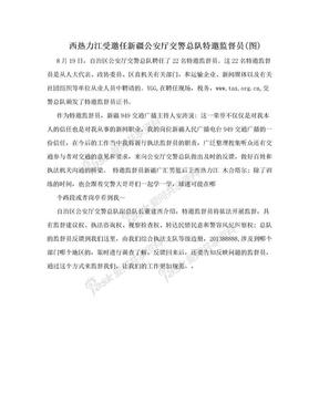 西热力江受邀任新疆公安厅交警总队特邀监督员(图)