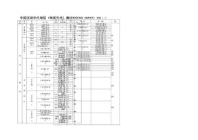 区域年代地层表