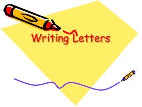 英文书信及信封格式