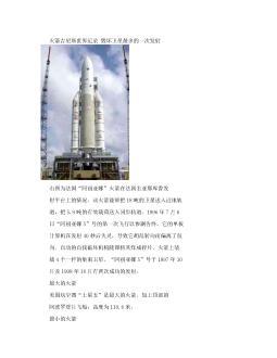 运载火箭吉尼斯世界纪录