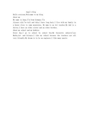 七年级英语上册课本第一单元课文