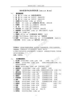 北京协和医院呼吸内科常用药