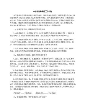 中学政治教研组工作计划