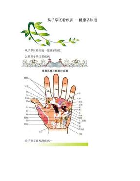 从手掌区看疾病 --健康早知道
