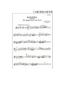 [专题]梁祝小提琴谱