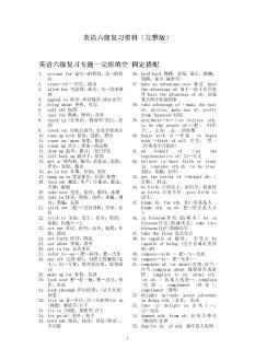 英语六级考试十天冲刺必备资料英语六级复习资料(完整版)