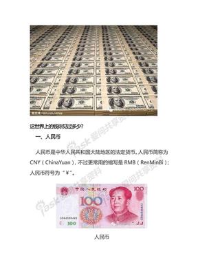 各国货币大全