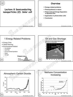 半导体纳米材料在光化学与太阳能电池方面的应用
