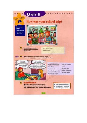 新目标英语八年级上册电子书Unit8