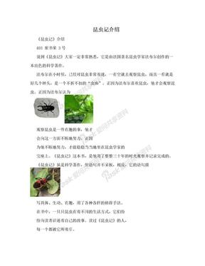 昆虫记介绍