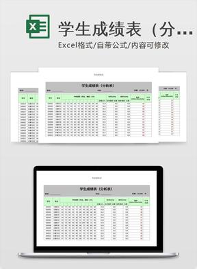 学生成绩表(分析表)
