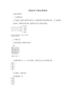 [策划书]吉他记谱知识