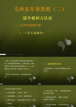 毛泽东军事思想(二)