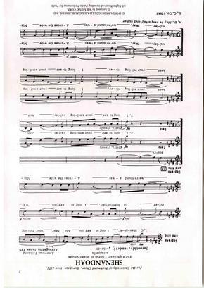 Shenandoah合唱谱