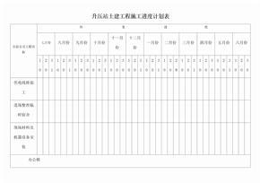土建工程施工进度计划表