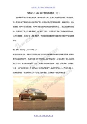 汽车史上100辆经典名车盘点(三)