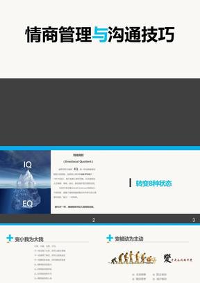 情商管理与沟通技巧商务培训ppt模板