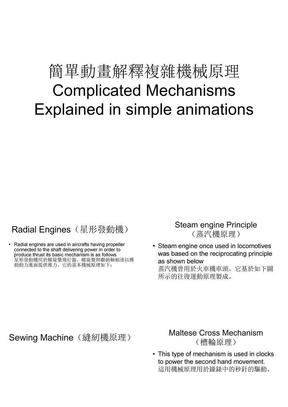 简单动画解释复杂机械原理