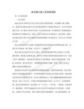 研究报告施工组织胜利村