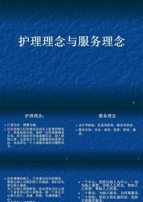 护理理念与服务理念ppt课件(1)