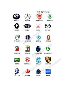 世界名车车标