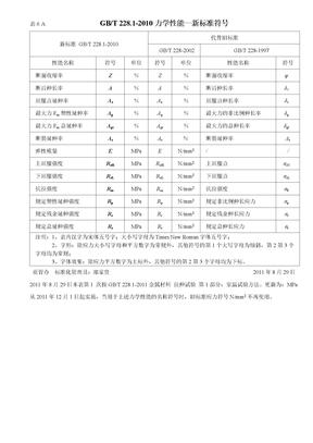 表6A 力学性能新标准符号